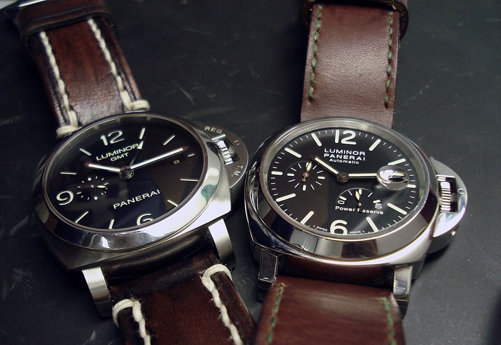 Panerai PAM320 review and PAM090 with zoomed date